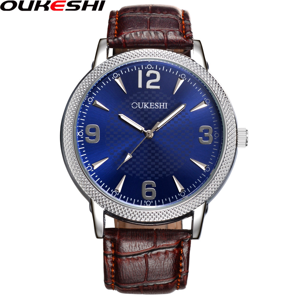 OUKESHI Fashion Men Watches Top Brand Luxury Male Clock Business Quartz Wrist Watch Relogio Masculino OKS20