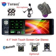 """Bauletto 4.1 """"Autoradio 1 Din Car Radio Bluetooth Touch Screen RDS USB AUX MP5 Video Player MP3 Auto Audio stereo Telecamera per la Retromarcia"""