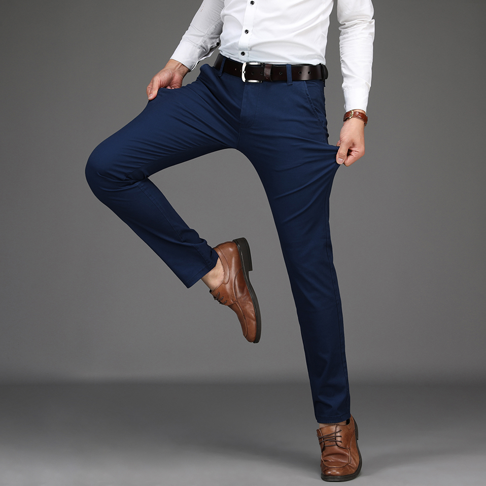 HTB1PjpCXh2rK1RkSnhJq6ykdpXaC NIGRITY 2019 Men Pants Casual High Quality Classics Fashion Male Trousers Business Formal Full Length Mens Pants
