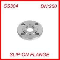 DN250 Stainless Steel SS304 RAISED FACE 4 Bolt SLIP ON FLANGE Industrial