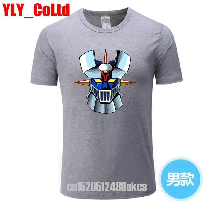 2019 Brand New Interesting Mazinger Z   T     Shirts   Men Anime Old Classic Manga Robot Movie   T  -  Shirt   Black Basic Tees TShirt For Boys