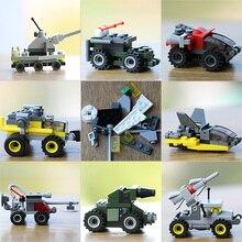 SLPF Assembled Building Blocks Toy Assembly Plastic Building Blocks Car Model Toys Puzzle Kindergarten Children BirthdayGift D01
