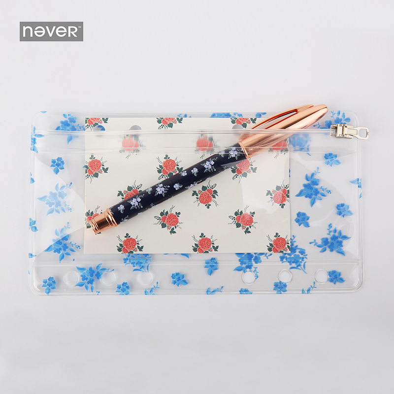 NEVER Notebook Zipper Pocket storage Bag PVC File Products for Filofax Spiral A6 Planner Office Accessories School stationery цена 2017