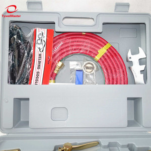 Image 3 - Kit de soplete de soldadura de corte de Gas, USA, 6290 puntas, encendedor de chispa, limpiador de punta, doble manguera, herramienta de soldadura de corte de Metal