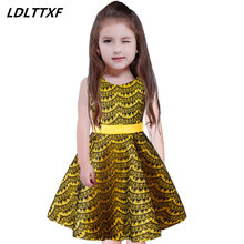 3-9 Years Brand 2018 Autumn Toddler Girl Lace Girl Princess Dress For Kids Party Dresses Christmas Dress for Baby Girls Clothes