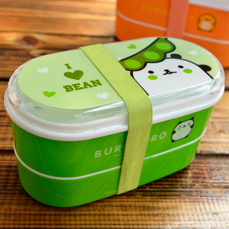 6 colors cartoon portable food box microwave oven bento boxes lunch storage container child kids. Black Bedroom Furniture Sets. Home Design Ideas