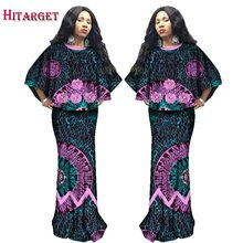 Hitarget 2019 Autumn African Women Clothing 2 Piece Sets Dashiki Wax Print Cotton Crop Top and Skirt Clothes WY2305