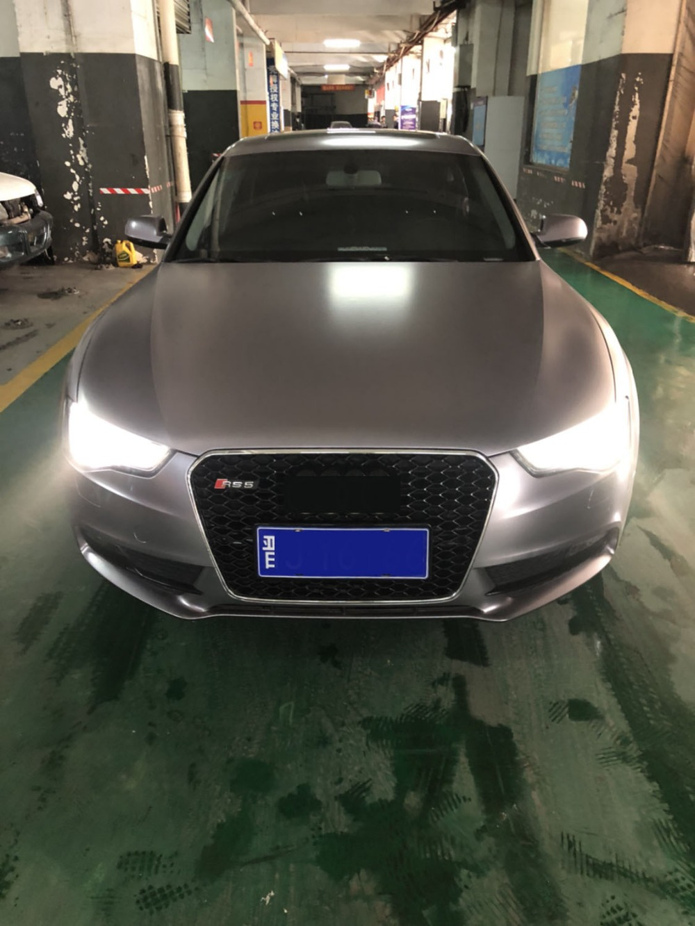Rs5 Style Silver Frame Mesh Sport Black Grill Grille Fit For Audi A5