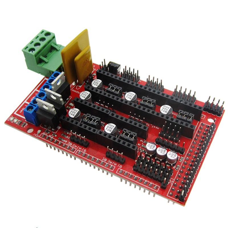 3D Printers Parts RAMPS 1.4 Control Board Panel Part Motherboard Shield Red Black Controls stud prototype expansion board red green black proto screw shield assembled