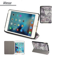 Case For IPad Mini 4 UltraSlim Lightweight Smart Shell Stand Pu Leather Cover For Apple IPad