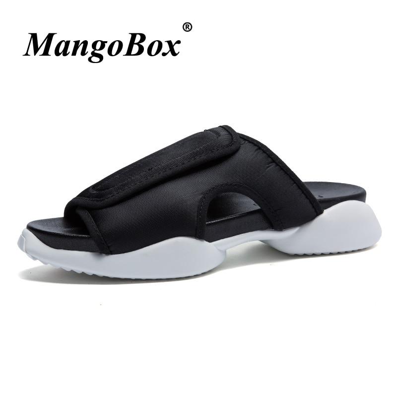 Men Slippers Shoes Black White Flip Flops Men Summer Fashion Beach Mens Slippers Outdoor Comfortable Slip On Sandals For Men