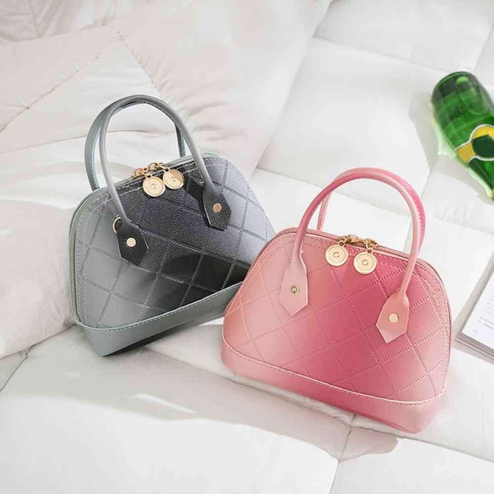 Shell moda Crossbody Tote Top-handle Bags PU Couro Bolsas de Ombro para o Saco Do Mensageiro Da Cadeia Feminina Bolsas Das Senhoras Das Mulheres