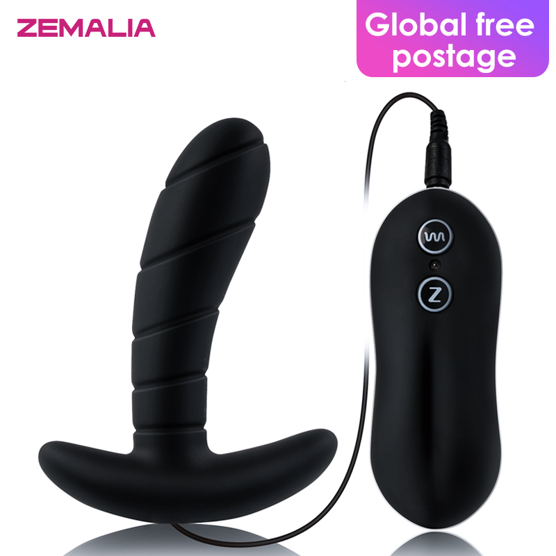 Zemalia Sally Adult ABS Silicone Anal Plug Vibrator Sex Erotic Toys for Man Prostate Massager Vibrador Butt Plug For Men Gay shd s010 silicone anal butt plug tail vibrator anal sex toys prostate massager for gay man with super power 7 mode