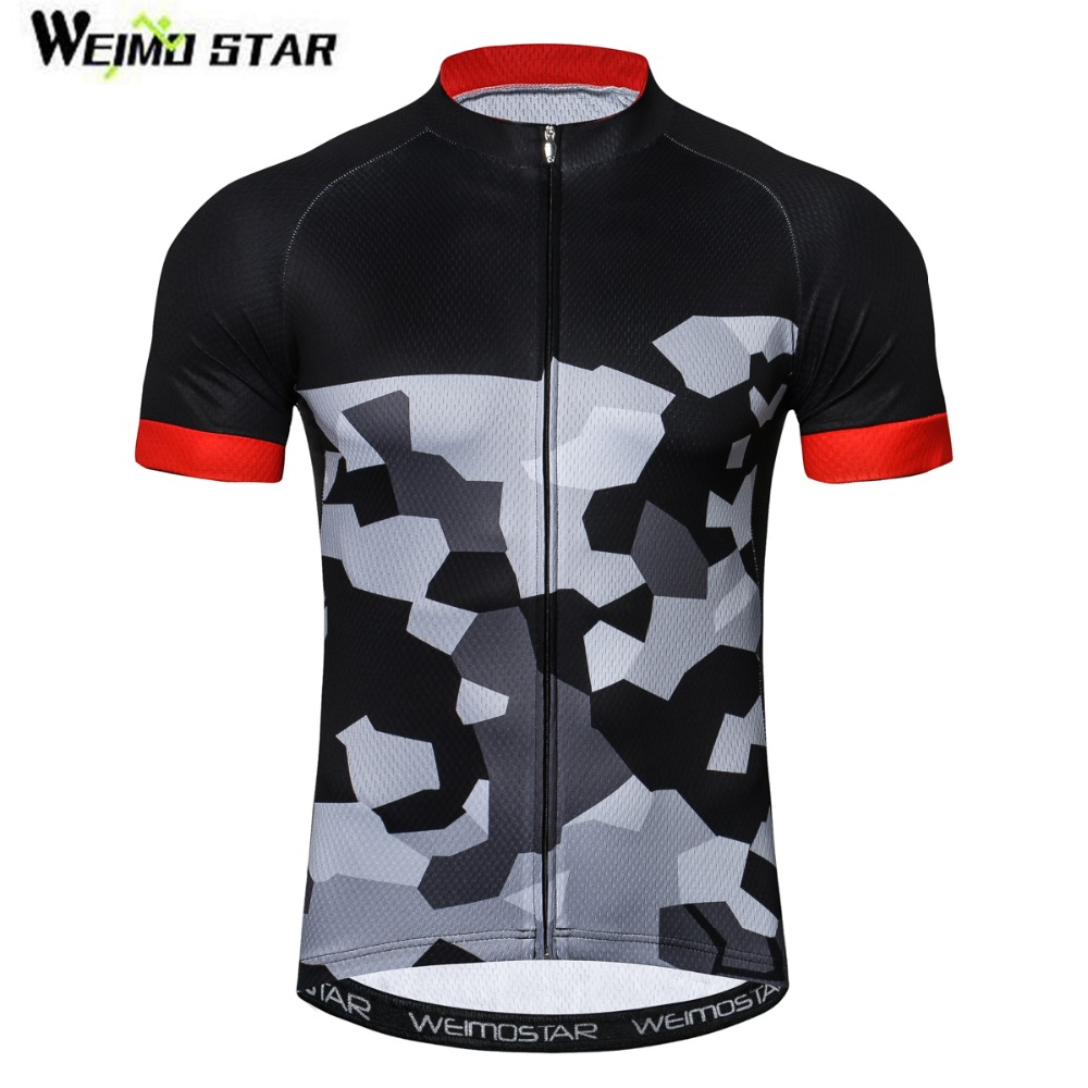 0a472b146 New Cycling Jersey Short Sleeve Camouflage Gray Black Bicycle Wear Ropa  Ciclismo road Bike Cycling Shirts Sport Clothes for Men
