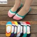 2016 10 peças = 5 pairs nova primavera e verão invisível do silicone anti-skid meias mulheres meias meias femininas de verão meias tornozelo invisível