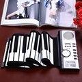 Portatile 61 Tasti Roll-up Tastiera Flessibile 61 Tasti Della tastiera Del Silicone MIDI Digitale Morbido Tastiera di Pianoforte Flessibile Elettronico Rotola in su pianoforte
