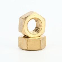 цена на Brass Hex Metric Hexagonal Nuts Threaded Hexagon Copper Insert Nut M2 M2.5 M3 M4 M5 M6 M8 M10 M12 M14 M16