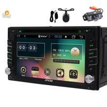 Android6.0 Stereo 2din GPS Navigator Capacitive screen Car DVD Player FM/RDS Autoradio SWC USB/SD Headunit+Front & Backup Camera