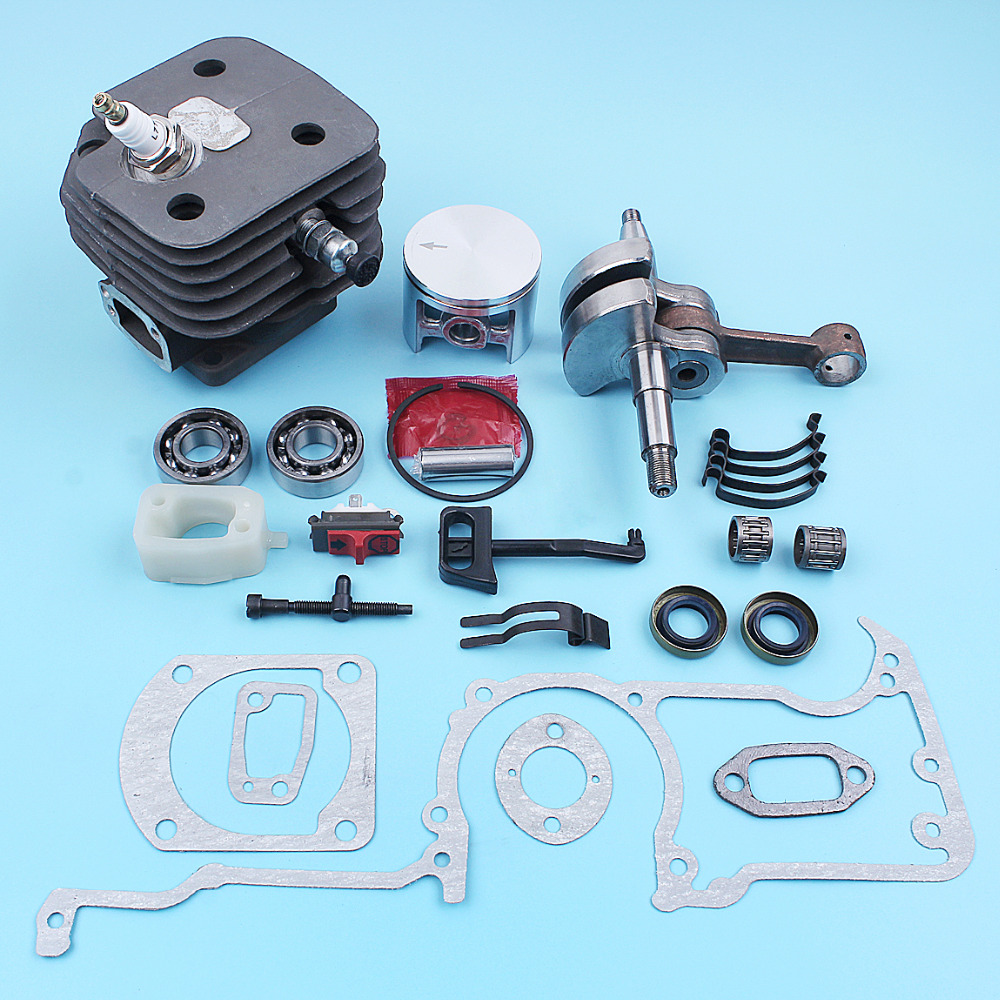 52mm Cylinder Piston Crankshaft Gaskets Kit For Husqvarna 272 272XP 272K 268 Chainsaw Big Bore Nikasil Plated Replacement Part