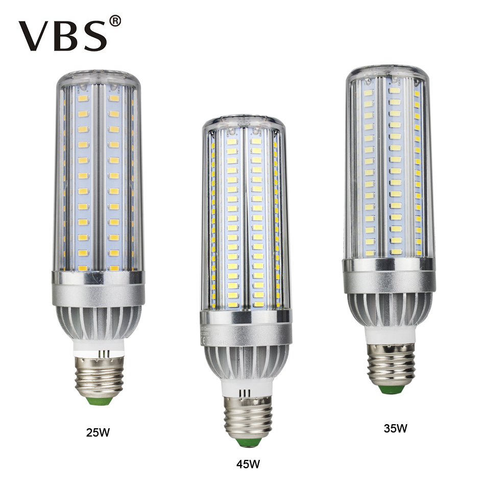 Energy Saving LED Corn Bulbs 105 129 153Leds E27 LED Spotlight Bulb No visible flicker 25W 35W 45W AC85-265V LED Light