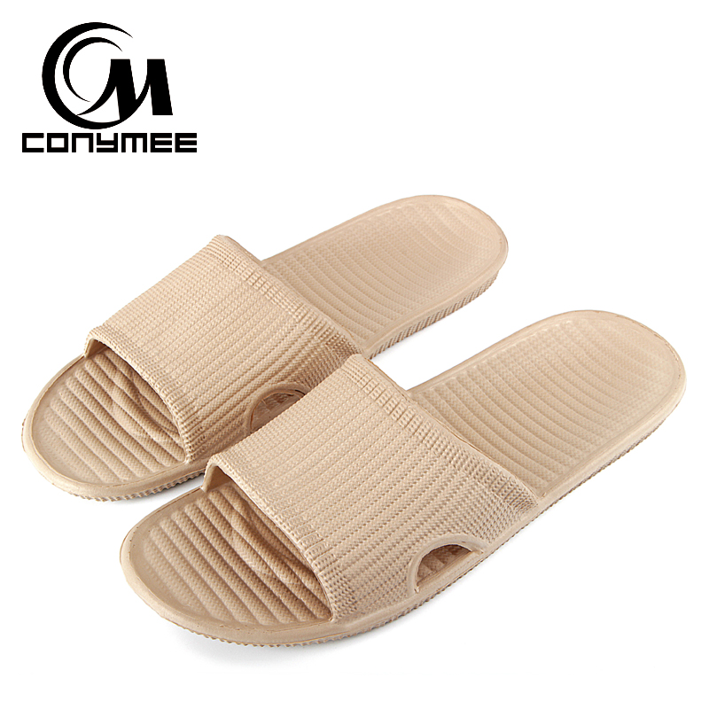 Summer Outdoor Beach Sandals Flip Flops 2019 Men Casual House Shoes Home Indoor Slippers Anti Skid Male Bath Slippers Slides EVA