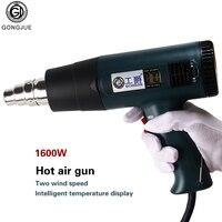 Gongjue GJ 8016LCD Digital Display Adjustable Temperature Hot Air Gun Heat Gun Solder Soldering Rework Station