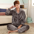 New arrival kimono men's clothing mens pajamas set ,plus size long sleeve flannel pyjamas men ,winter evening pyjama home