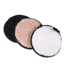 3pcs Makeup Cleanser Puffs Make up Removal Pads Flutter Wash Cleansing Cotton Cleaning Flapping Wet Sponge Facial Puff Tool
