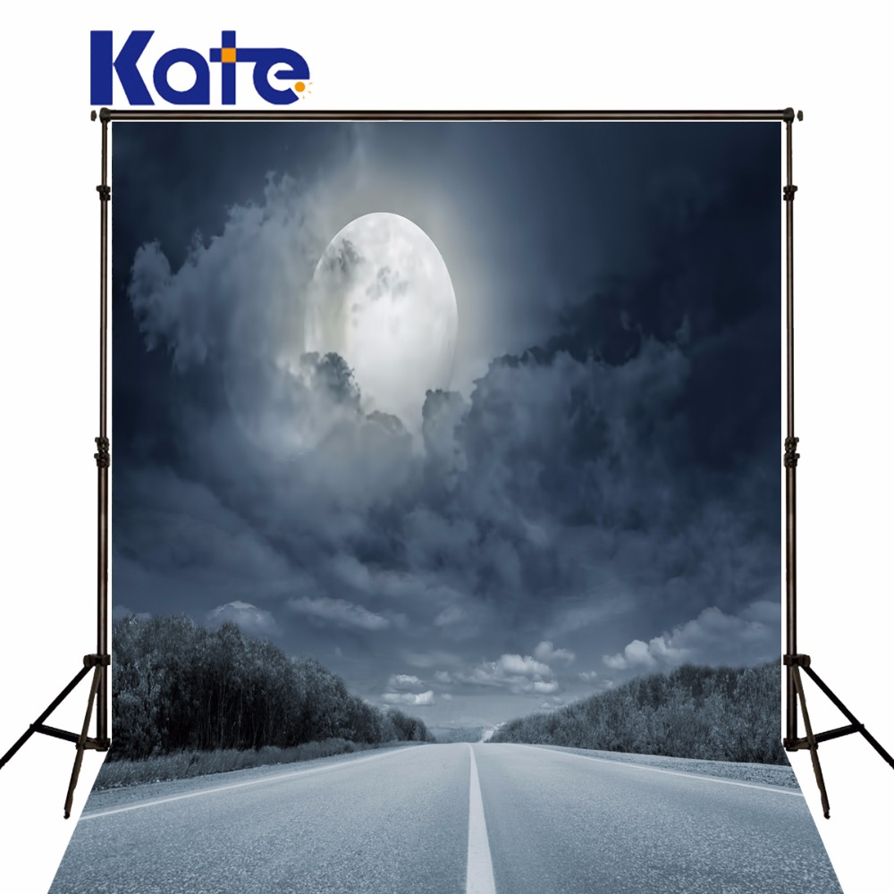 KATE Photo Background Photography Scenic Backdrops Backdrop Photo Studio Moon Concrete Floors Backgrounds Sky 3D Background bright full moon 8 x12 cp computer painted scenic photography background photo studio backdrop dt sl 196