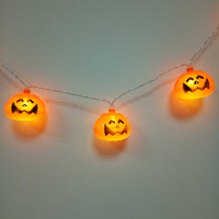 Jack O Lanterns Pumpkin Battery Operated For Halloween Party Christmas Decoration Waterproof LED String Lights Flashlight