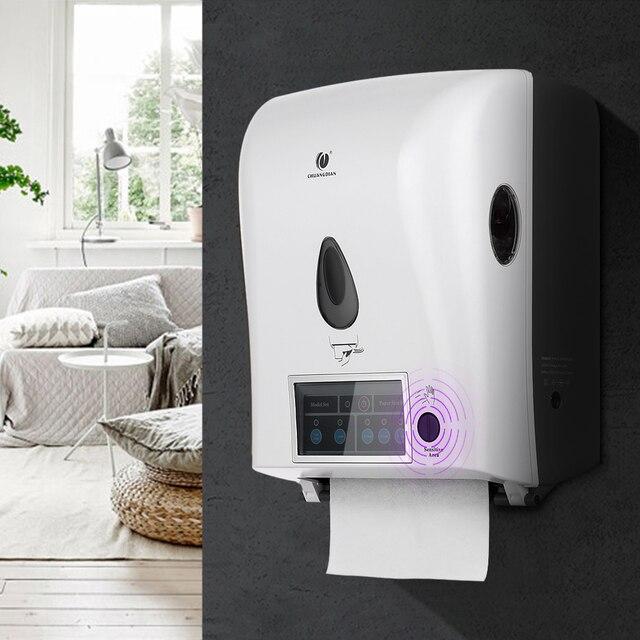 Charmant Automatic Sensor Roll Paper Towel Dispenser Wall Mount Paper Holder Auto  Cut Jumbo Roll Tissue Dispenser