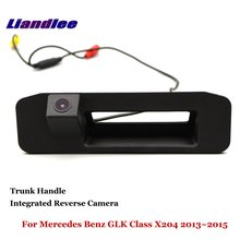 Liandlee Car Backup Parking Camera For Mercedes Benz GLK Class X204 2013~2015 Rear View Reverse Camera / Integrated Trunk Handle for mercedes benz glk class x204 2013 2015 trunk handle car reverse camera rear view backup parking camera hd ccd night vision
