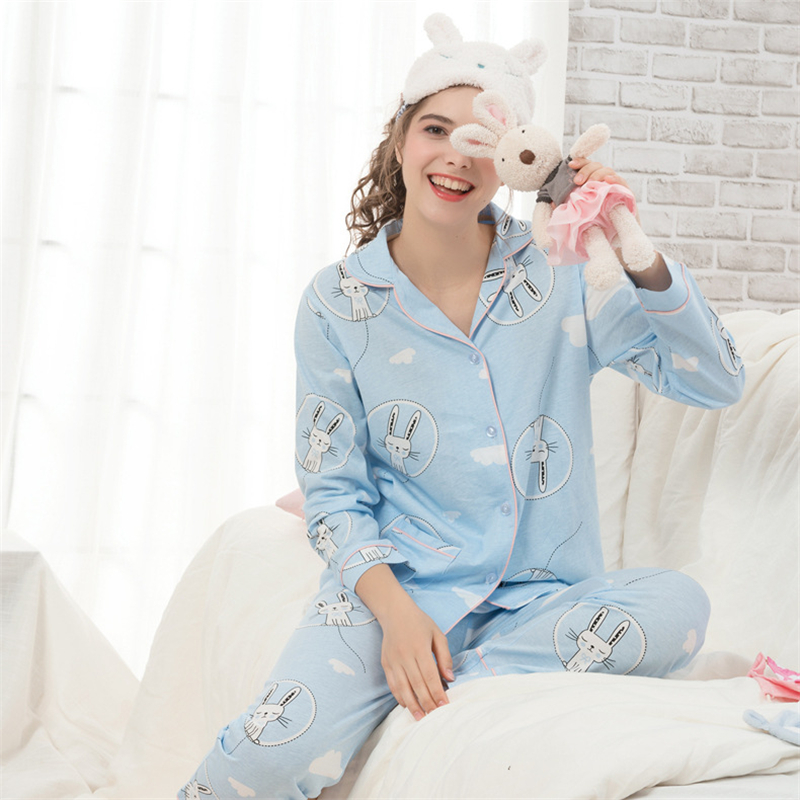 pajamas for pregnant women nursing clothing suit printed 2018 autumn long sleeve pijama set breastfeeding sleepwear homewear