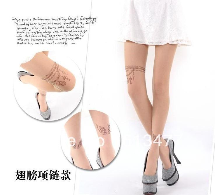 Winter women sexy tights/panty/knitting in stockings trousers panty-Tattoo tattoo filar socksD001-1pcs