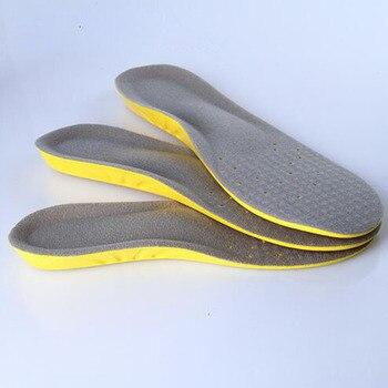 Новый 30 см 12 дюймов пены памяти дышащий поглощение пота ортопедических Arch мягкая удобная спортивная стелька шок площадку