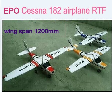 US $56 42 9% OFF|Hot Sale With Assembling Video Brushless Ready to fly EPO  Cessna 182 Airplane 1200mm Wingspan 4 Color-in RC Airplanes from Toys &