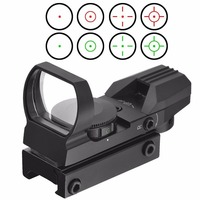 Professional Tactical Holographic Red Green Riflescope Dot Holographic 1x22x33 Reflex 4 Reticle Hunting Sight Scope Tool