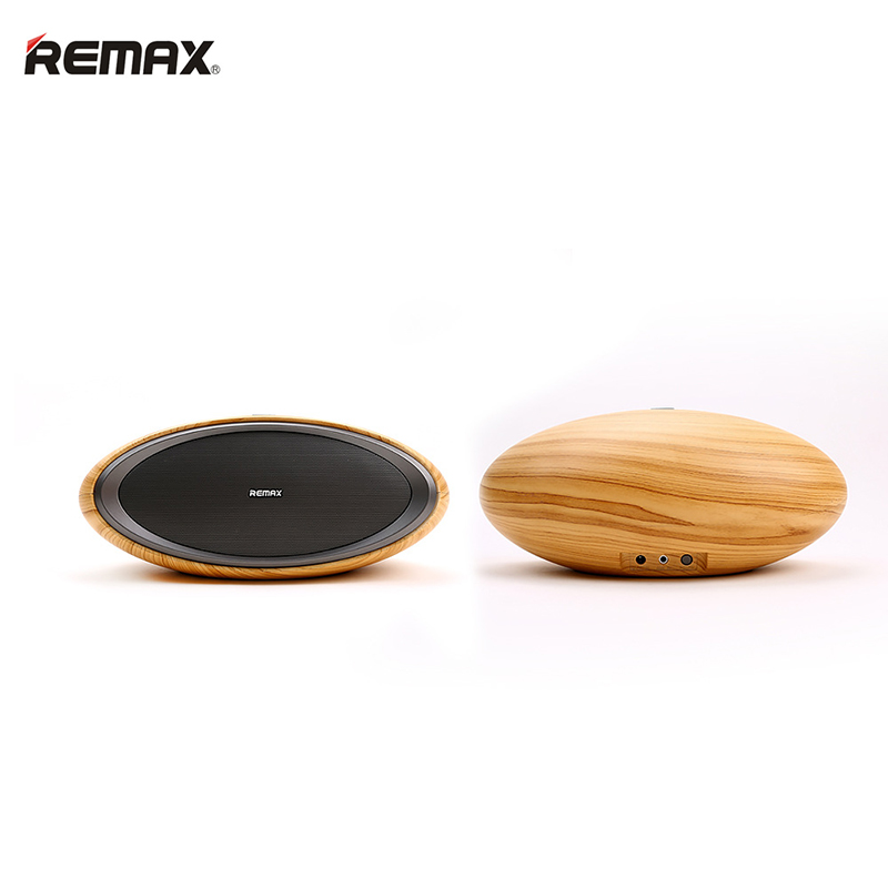 REMAX RB-H7 Wooden Column Bluetooth Speakers Subwoofer Super Bass Desktop Speaker Wireless Bluetooth Loudspeakers for Smartphone