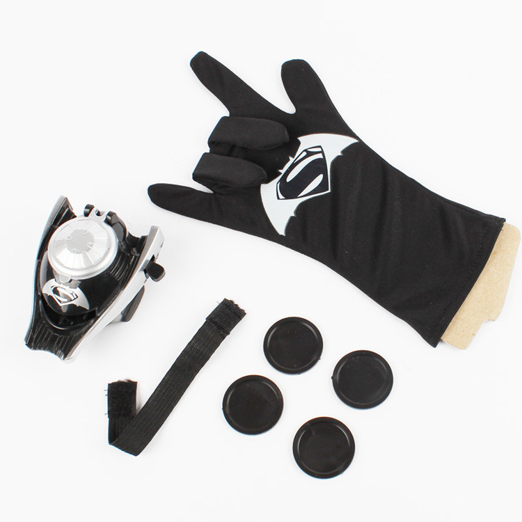 [Best] Cosplay The Avengers SpiderMan Batman Hulk Captain America Flying saucer Launcher Glove sets Costume party slinger toy