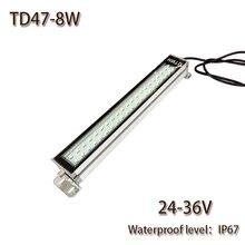 HNTD 8 Вт светодиодный панельный светильник 24 В DC светодиодный металлический рабочий светильник станок с ЧПУ рабочий инструмент светильник ing TD47 водонепроницаемый IP67