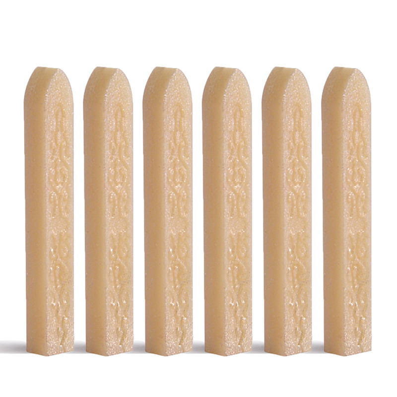 6PCS Choose Your Favourite Seal Wax Stick 110cm Length Carved Lotus Wax Sealing Stick for Postage Envelope Letter Deco