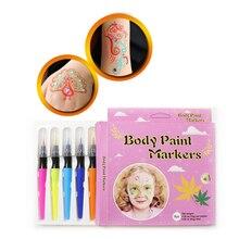 лучшая цена Pinkiou 8 Colors Marker Pens Washable Colorful Makeup Body Face Makeup Painting Pen Kids DIY Drawing Watercolor Pen Set