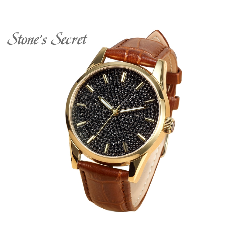 aa0158c8c New Arrival Classic Design 18K Yellow Gold Plated Stainless Steel Spinel  Bangle Watch for Men Business Occasion Fine Jewelry