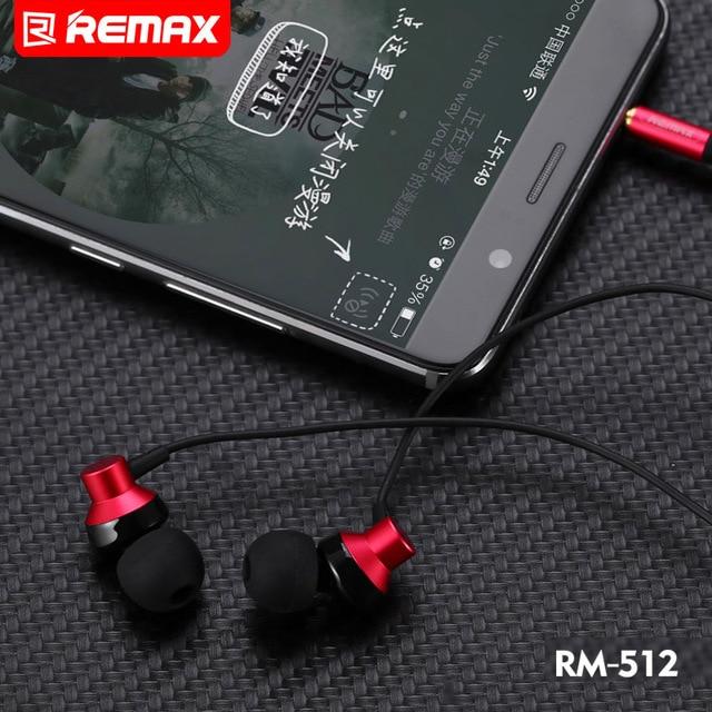 מקורי רימקס 512 אוזניות Wired אוזניות רעש ביטול אופנה ב אוזן אוזניות עבור iPhone Xiaomi נייד טלפון PS4