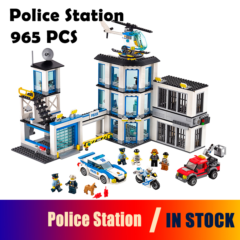 Models building toy Compatible with lego City Series 60141 965Pcs Police Station Building Blocks toys & hobbies birthday gift 965pcs city police station model building blocks 02020 assemble bricks children toys movie construction set compatible with lego