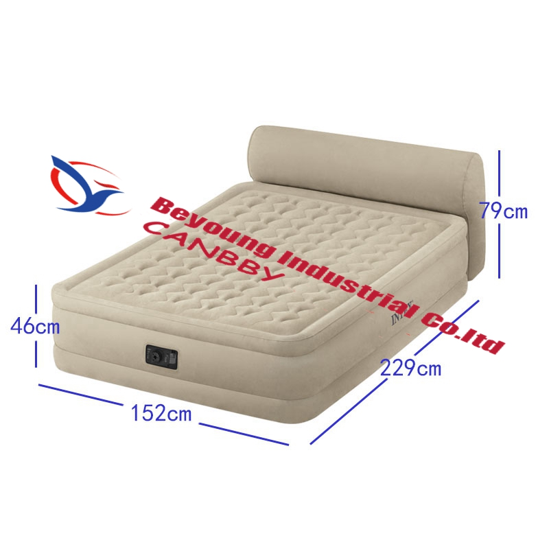 Exceptionnel Intex Queen Dura Beam Ultra Plush Airbed Deluxe Inflatable Bed Mattress  With Headboard Built In Electric Pump,AC220 240 In Camping Mat From Sports  ...