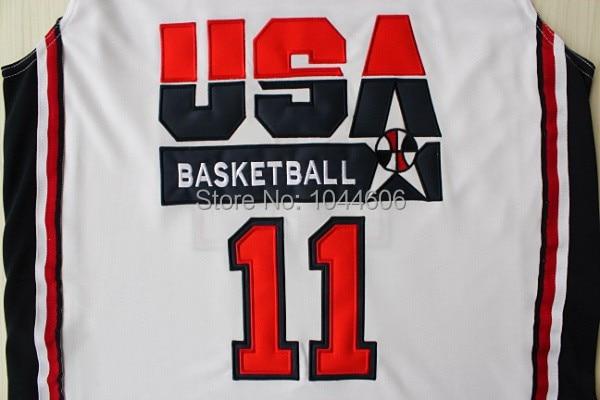 c4ed1a6d78 ... NBA Jersey 1992 Dream Team 11 Karl Malone Jersey Cheap USA Basketball  Jerseys All Stitched Embroidery Logo Name ...