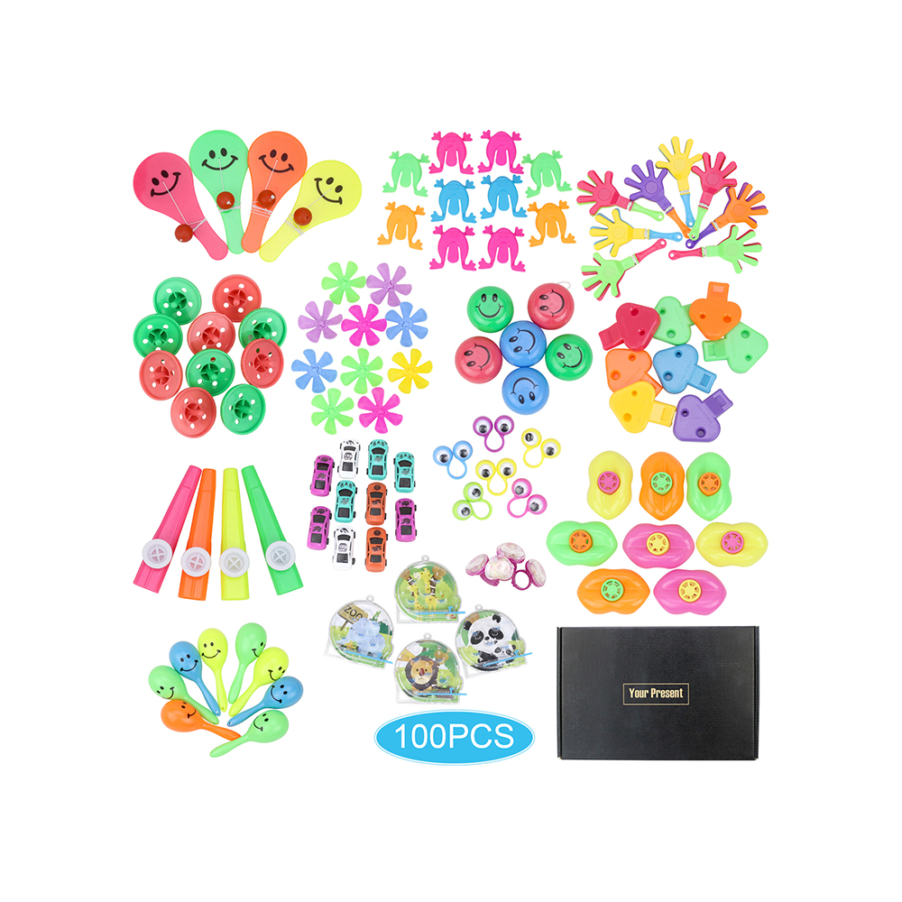 100 Pcs Birthday Pinata Fillers Party Supplies Giveaways Prizes Classroom <font><b>Treasure</b></font> Box Party Gift Favors Assorted Small <font><b>Toys</b></font> Se image