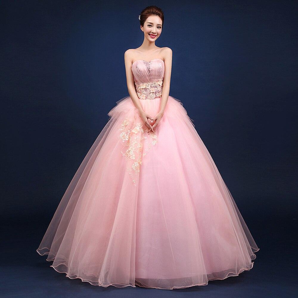 Belles robes de Quinceanera rose 2019 chérie strass longue douce seize robe de bal fête d'anniversaire Vestido debutante azul