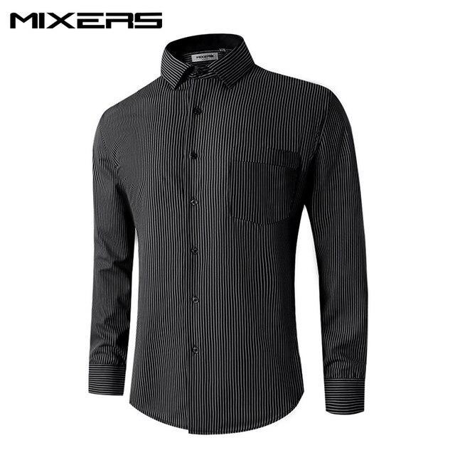 41804e0f070 2018 New Arrivals Black Striped Dress Shirt Men Autumn Formal Shirts Men Long  Sleeve Men s High Quality Blouse Camisa Masculina